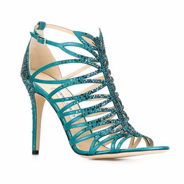 Kaye Teal Sandals by Jimmy Choo