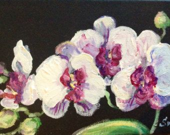Original Aquarell rosa Orchidee von VerbruggeWatercolor auf Etsy