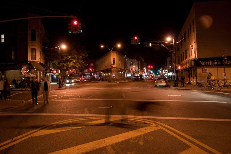 city street corner at night - photo #12
