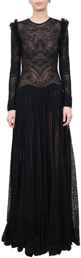 Zuhair Murad Ruffled Lace Dress