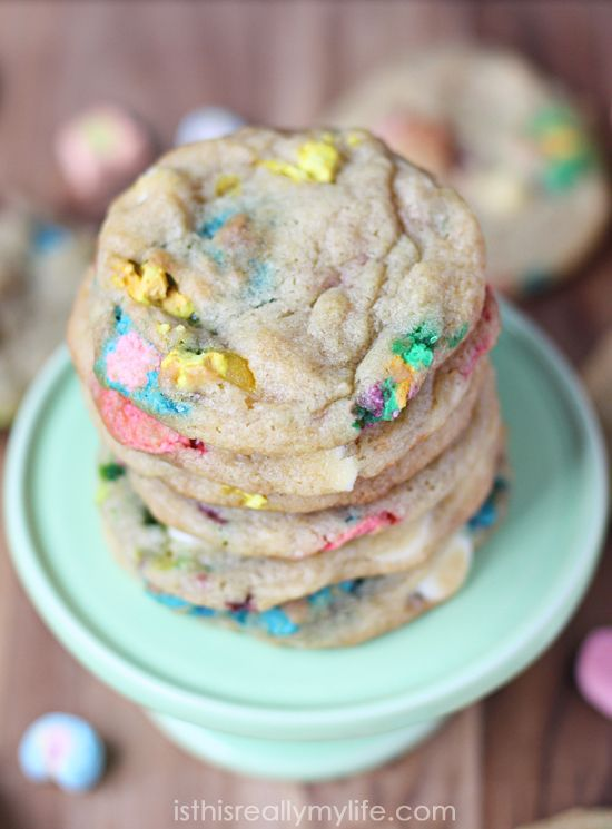 Lucky Charms Cookies - magically delicious, especially hot from the oven. You will not be able to eat just one!