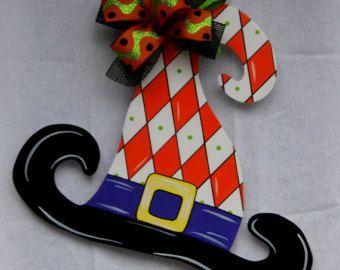 Witch's Shoe Door Hanger Halloween Door by HolidaysAreSpecial