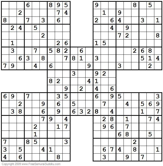 1001 Moderate Samurai Sudoku Puzzles En 2020
