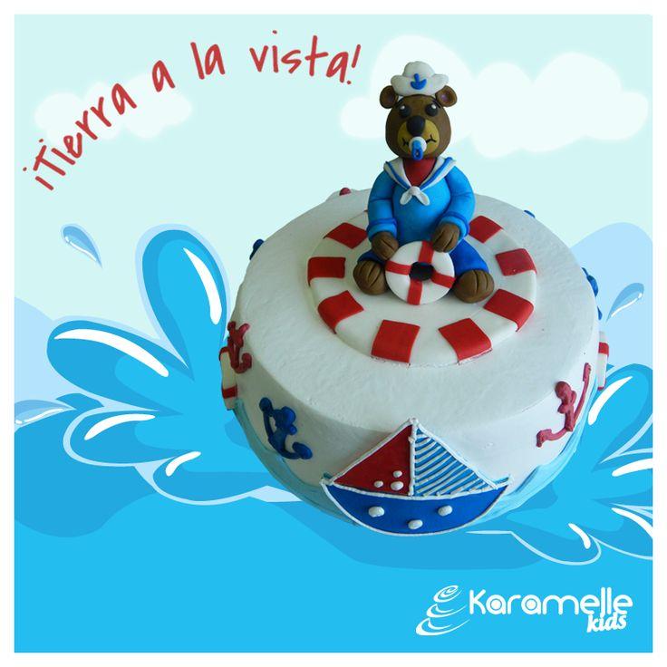 ¡Para el marinerito de la casa!  #Karamelle #torta #cake #sailing #marinero #delicioso #pasteleria