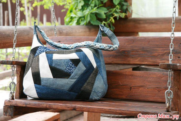 сумка из джинсы в стиле пэчворк - Поиск в Google