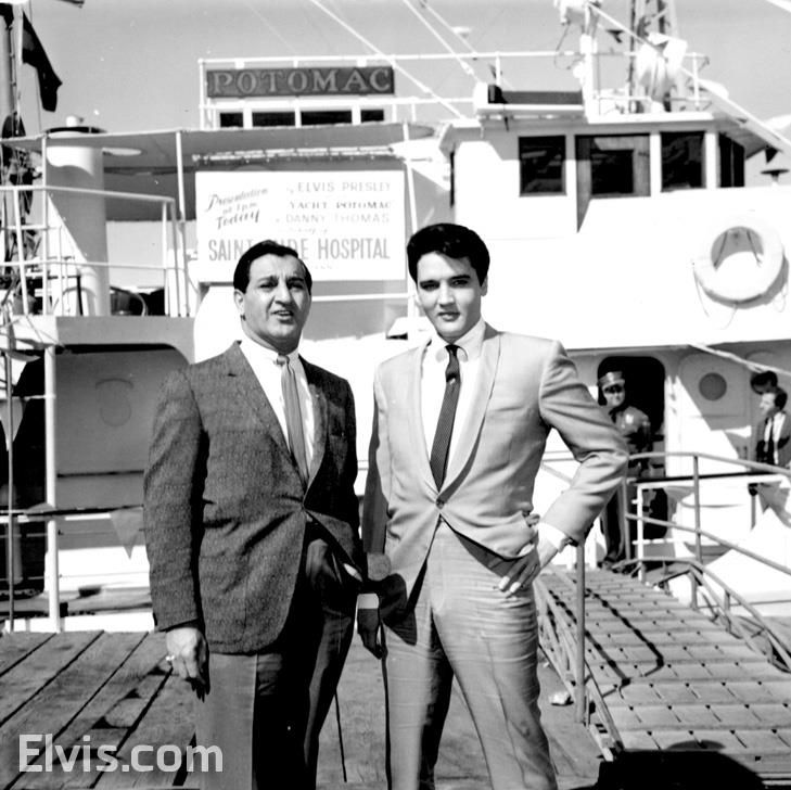 Elvis purchased President Roosevelt's USS Potomac in 1964. After attempting to donate to the March of Dimes, Elvis gave the yacht to Danny Thomas for St. Jude Children's Research Hospital, they sold it for $75 000 to go toward the hospital.