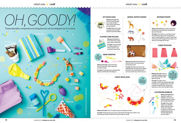 Loot Bag, 8 ways, Craft page - Today's Parent Magazine