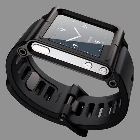 News: rumours are mounting that Apple is working on a wearable smartwatch that would link up to an iPhone.    LunaTik watch for iPod Nano