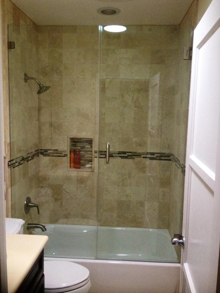 Frameless Glass Shower Door In Tub Frameless Glass Doors Pinterest Http