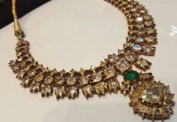 More than 50 carats Diamonds and Emerald Necklace. gutgalgems.com