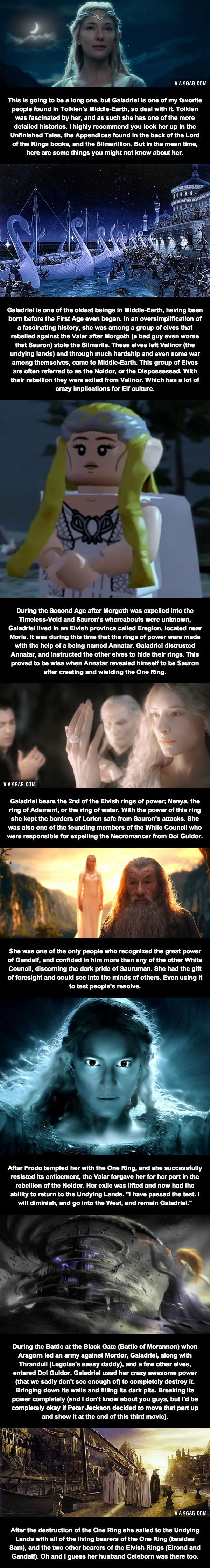 Relatively Unknown LoTR Facts (Part 3) - Galadriel the Lady of Light | MAYBE I SHOULD SHOW THIS TO THE PEOPLE THAT GIVE ME ODD LOOKS WHEN I SAY GALADRIEL IS [one of] MY FAVORITE CHARACTER[s].