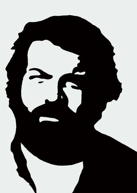 Bud Spencer -  Pop Art Gemälde - 70 x 50 cm by pop-art-galerie, schönes Gemälde Gemälde ist in Acryl Handgemalt - kein Druck (Leinwand auf Keilrahmen) Mit Zertifikat ...