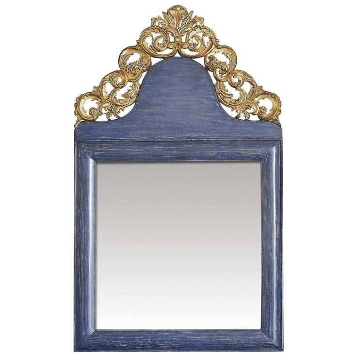 Venetian Blue Wall Mirror   From a unique collection of antique and modern wall mirrors at https://www.1stdibs.com/furniture/mirrors/wall-mirrors/