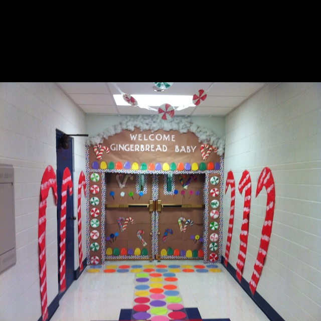 Gingerbread House Great Ideas Christmas Classroom Door