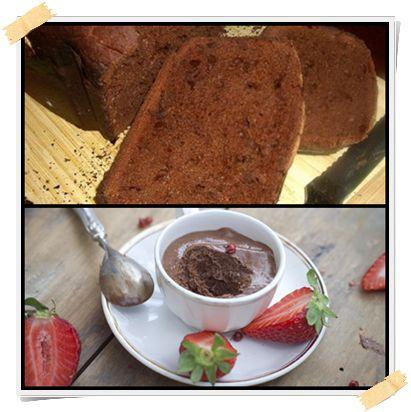 Mousse al cioccolato e fragola e pane Dukan al cioccolato - http://www.lamiadietadukan.com/ricette-dukan-mousse-pane-dukan/ #dukan #dietadukan #ricette