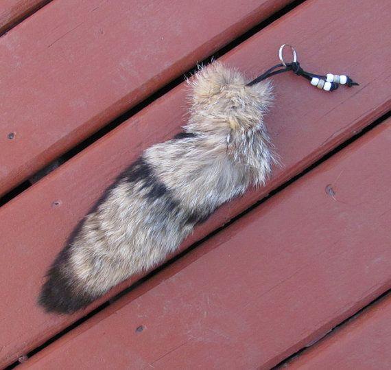 Real Fox Tail Keychain by SkyBlaze
