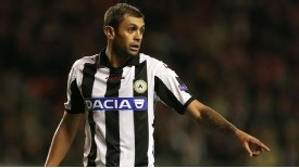 """Good bye! Udinese defender Danilo has been found guilty of racist abuse and been sentenced to a year in prison by a court in Brazil. Danilo joined Udinese from Palmeiras in 2011. Danilo, 28, was on trial after being caught by a television camera spitting in the face of Atletico Paranaense player Manoel and calling him """"macaco"""" - monkey in the Portuguese language - when playing for Palmeiras in 2010."""