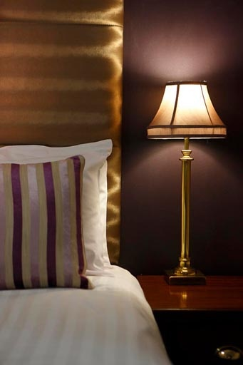 Forstercourt Hotel Galway Ireland - Lamp & Bed © David Cantwell Photography