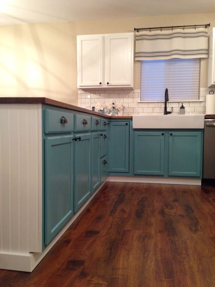 Kitchen Reno Cabinets Napoleonic Blue Chalk