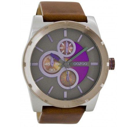 Horloge OOZOO Timepieces C5537 Bruin/Donker Grijs (T) (48MM) kopen? Op werkdagen voor 20:00 besteld, volgende dag in huis. Gratis verzending en achteraf betalen!