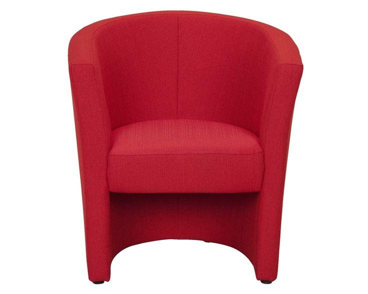 Fauteuil Tygo   Kleur: rood Materiaal: stof Portland Afmeting: 80x70x65 (hxbxd)