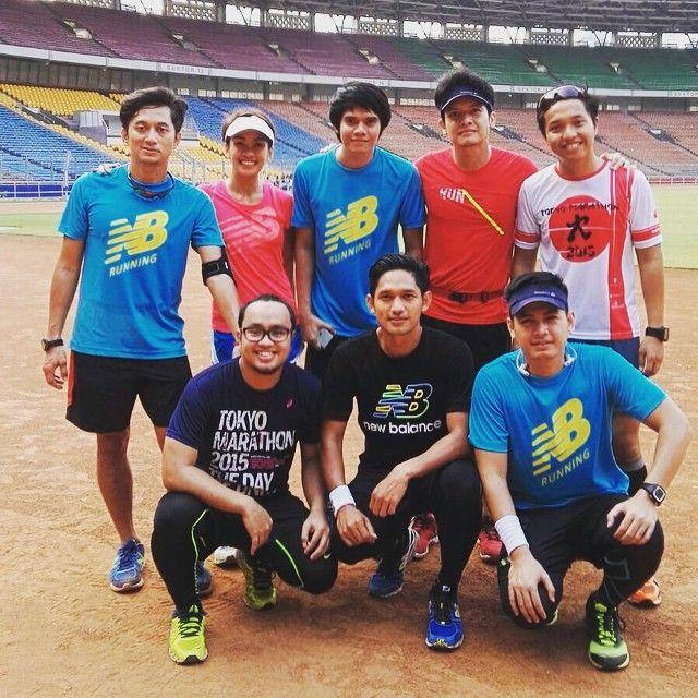 Excellent Runners exercising for Bali Marathon 2015 at Gianyar. #BMBM2015 #BaliMarathon