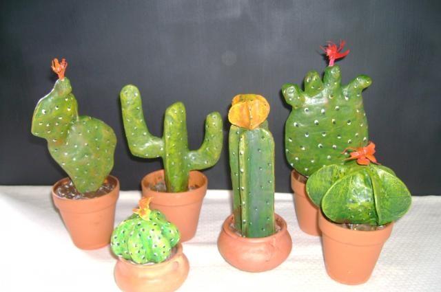 Cactus papel mache