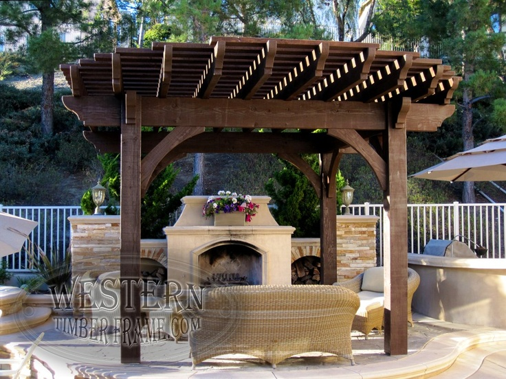 Free Standing Pool Side Pergola With Rich Cordoba Stain And Roosevelt Step  Profile. Upgraded Radius