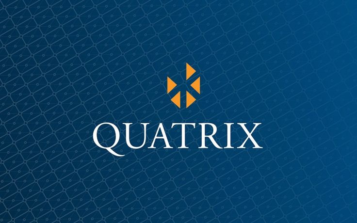 quatrix corporate logo stack reverse