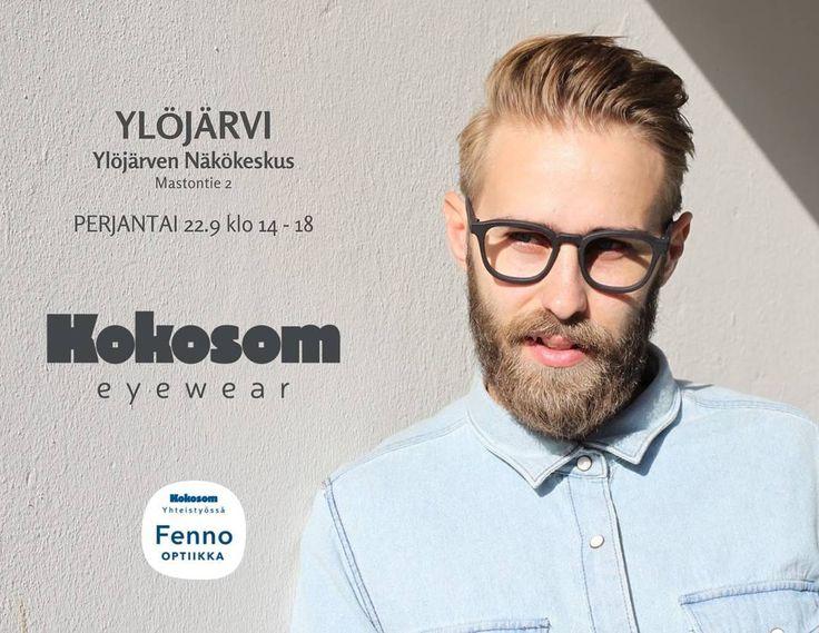 Kokosom Ylöjärvellä perjantaina 22.9! Sovita ja shoppaa Ylöjärven Näkökeskuksessa kello 14-18. Nähdään siellä! #kokosomeyewear #eyewearlove #ylöjärvi #fennooptiikka