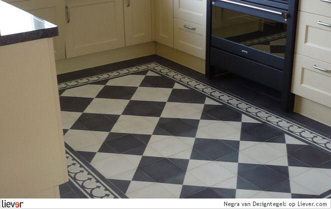 Designtegels Negra - Designtegels vloeren & tegelvloeren - foto's & verkoopadressen op Liever interieur
