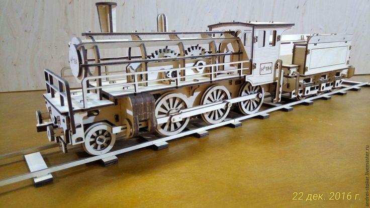 Купить 3D-конструктор «Паровоз HB184» - Конструктор, конструктор из дерева, конструктор деревянный, паровозик, паровоз
