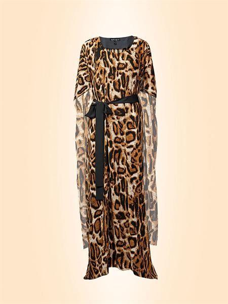 Длинное леопардовое платье из шифона