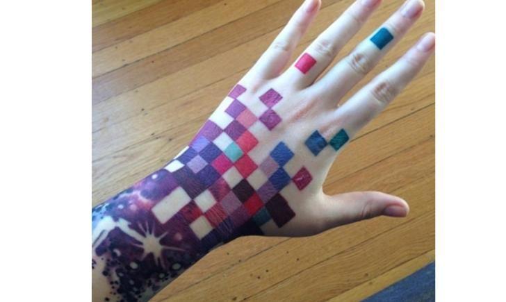 Bildresultat för pixelated tattoo
