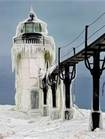 Michigan Lighthouse In The Winter - Bing Images