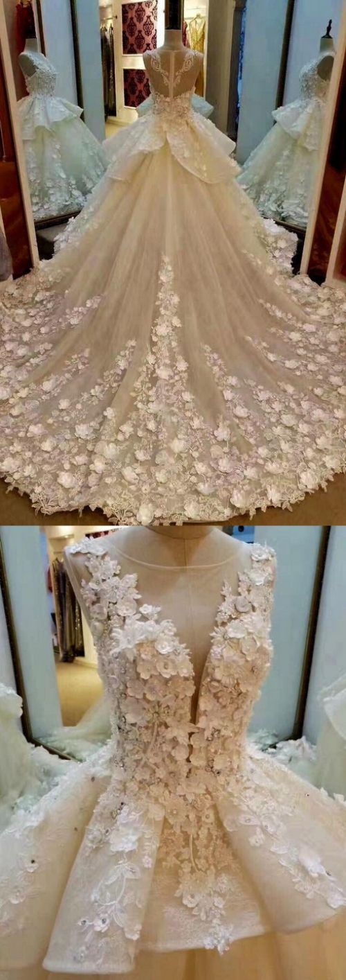 Gown Wedding Dresses, Ivory Gown Wedding Dresses, Gown Long Wedding Dresses, Long Wedding Dresses, Ivory Wedding Dresses, Ball Gown Wedding Dresses, Ivory Ball Gown Wedding Dresses, Ball Gown Long Wedding Dresses, Princess Lace Appliqued Flowers Chapel Tr, Lace Wedding dresses, Princess Wedding Dresses, Ball Gown Dresses, Long Lace dresses, Ivory Lace dresses, Pretty Wedding Dresses, Princess Ball Gown Wedding Dresses, Wedding Dresses Lace, Ivory Lace Wedding dresses, Wedding Dresses B...