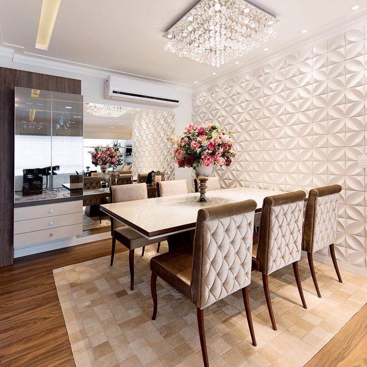 """48 curtidas, 3 comentários - FormatoD Arquitetura e Design (@formatodarquitetura) no Instagram: """"Muito aconchegante esta pequena sala de jantar! #assimeugosto @rerthyrevestimentos…"""""""