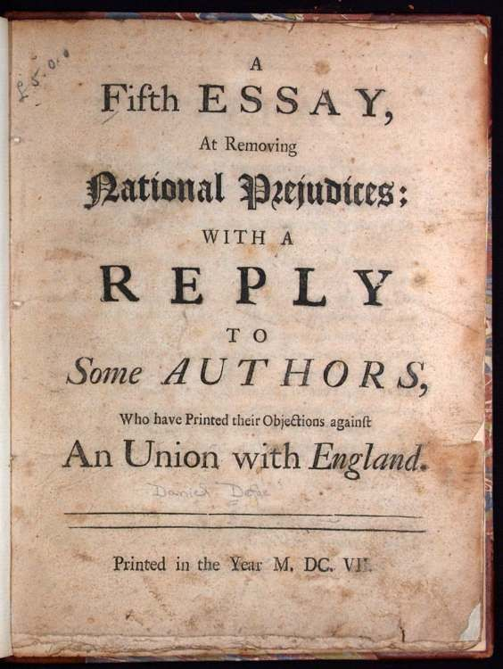 Essay at Removing National Prejudices Title Page