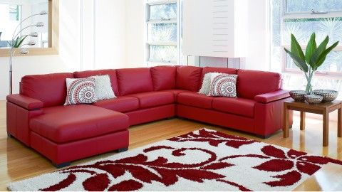 Red Couch For The Home Modular Lounges Lounge Suites
