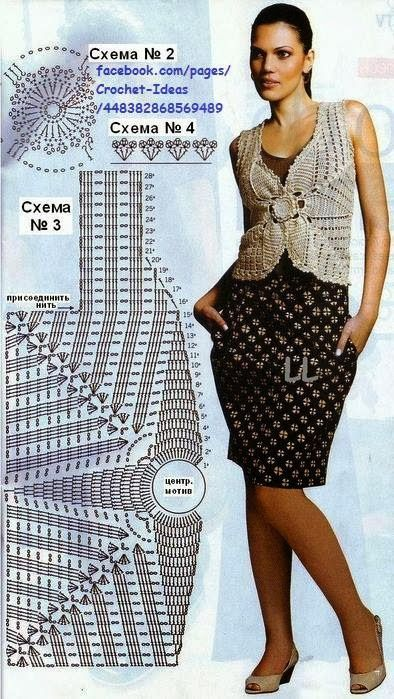 Zurbahan Blog: crochet vest with pattern