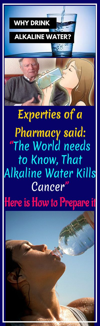"""Experties of a Pharmacy said: """"The World needs to Know, That Alkaline Water Kills Cancer"""" … Here is How to Prepare it! #AlkalineWater #cancer #fitness #beauty #hair #workout #health #diy #skin #Pore #skincare #skintags #skintagremover #facemask #DIY #workout #womenproblems #haircare #teethcare #homerecipe #health #disease #remedies #cellilute #homeremedies"""