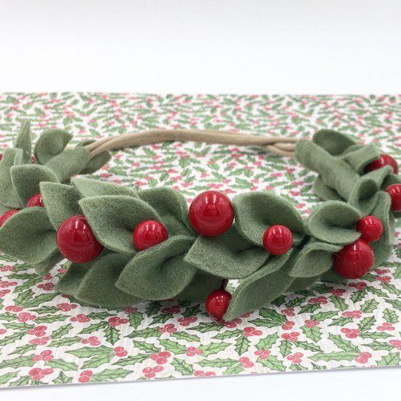 Holiday Gift Holiday Headband Flower Headband Boho Christmas Crown Christmas Gift Purple Poinsettia Flower Crown Christmas Headband