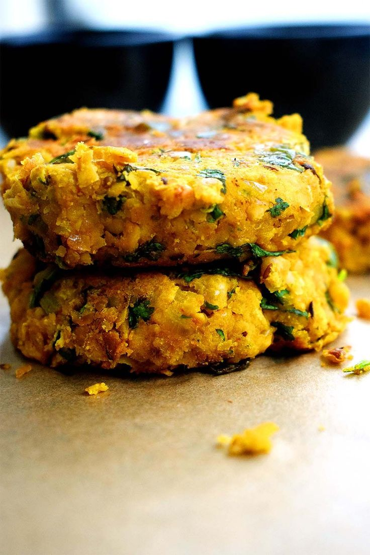 stacked masala chickpea burger