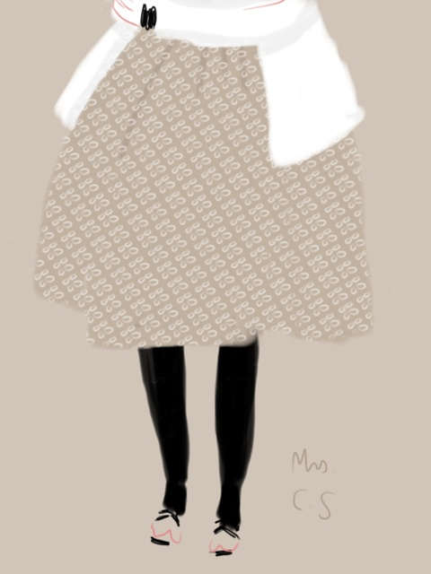 Carla Sozzani #portrait #illustration Open Toe - Opentoeillustration.com