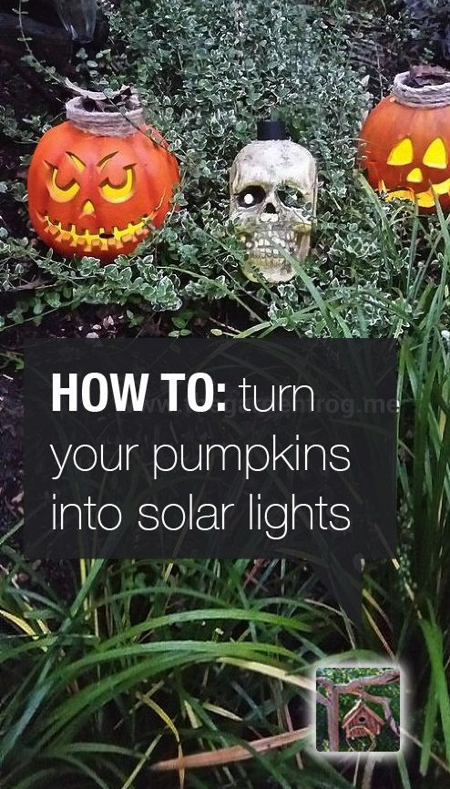 how to turn halloween decorations into solar lights