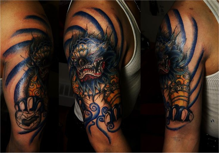 Fu Dog sleeve by Doug Mundy