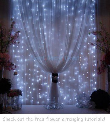 Wedding Backdrop Panels - Reception Decorating Ideas-- with white lights (instead of blue-ish white) could be pretty