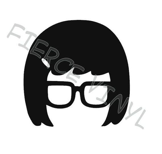 Tina Belcher Inspired Silhouette Vinyl Decal Silhouette