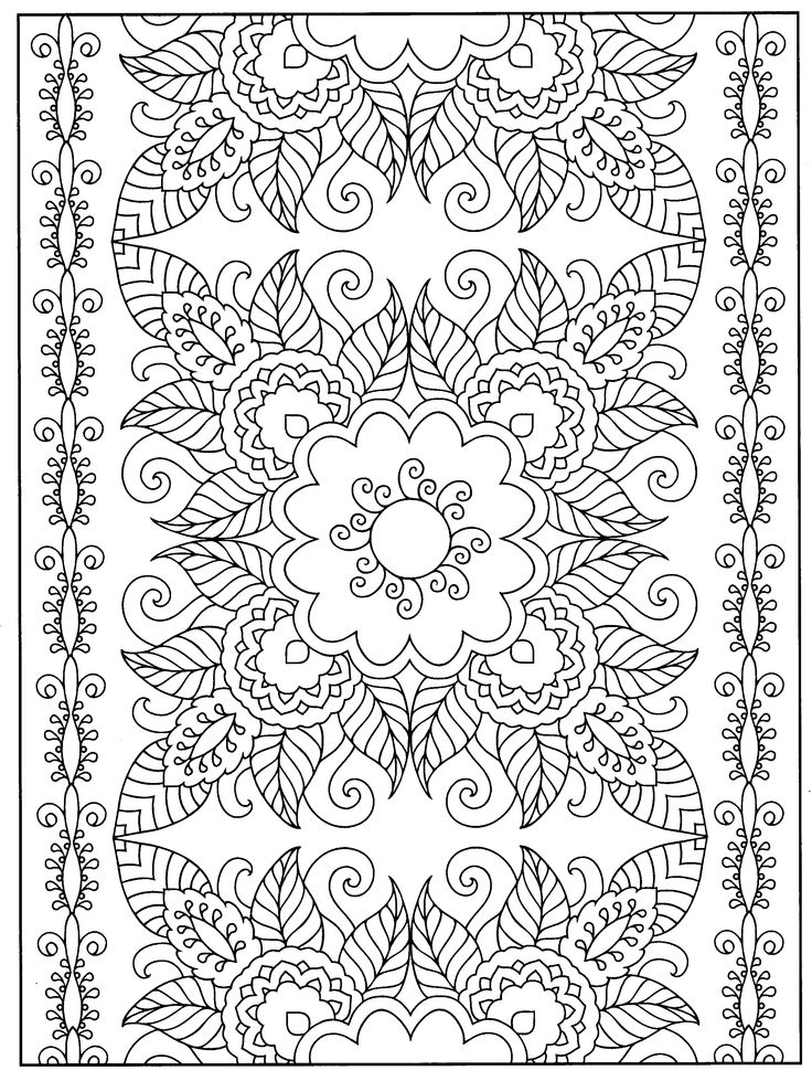 A Favorite From Mehndi Designs By Marty Noble Coloring Book