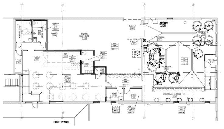 Brewery Floor Plan Building Components Pinterest